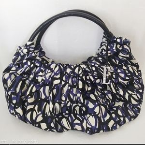 NWOT Elle satin swirl print hobo purse